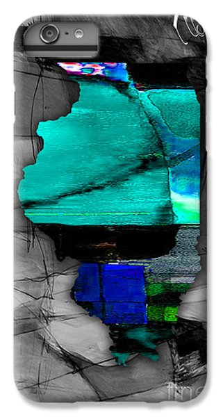 Illinois Map Watercolor IPhone 6s Plus Case