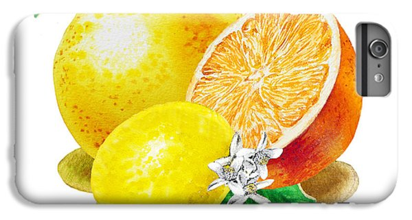 Grapefruit iPhone 6s Plus Case - A Happy Citrus Bunch Grapefruit Lemon Orange by Irina Sztukowski
