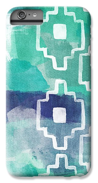 Abstract iPhone 6s Plus Case - Abstract Aztec- Contemporary Abstract Painting by Linda Woods