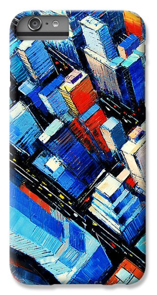Abstract New York Sky View IPhone 6s Plus Case by Mona Edulesco
