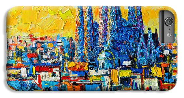 Abstract Sunset Over Sagrada Familia In Barcelona IPhone 6s Plus Case