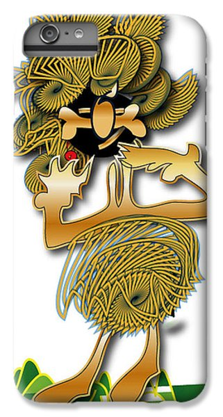 IPhone 6s Plus Case featuring the digital art African Dancer With Bone by Marvin Blaine