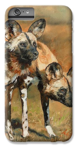 iPhone 6s Plus Case - African Wild Dogs by David Stribbling