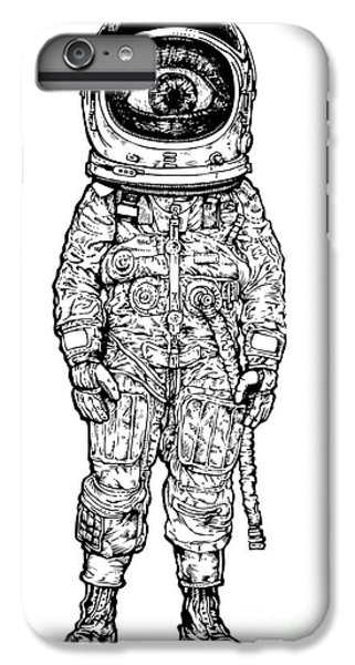 Space iPhone 6s Plus Case - Amazement Astronaut. Vector Illustration by Jumpingsack