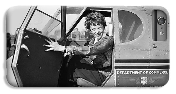 Airplane iPhone 6s Plus Case - Amelia Earhart - 1936 by Daniel Hagerman