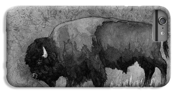 Monochrome American Buffalo 3  IPhone 6s Plus Case by Hailey E Herrera