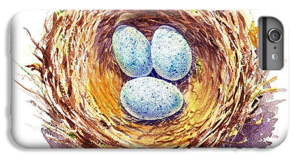 American Robin Nest IPhone 6s Plus Case by Irina Sztukowski