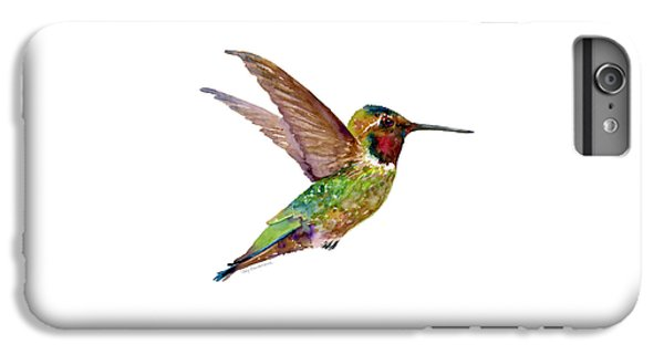 Anna Hummingbird IPhone 6s Plus Case by Amy Kirkpatrick