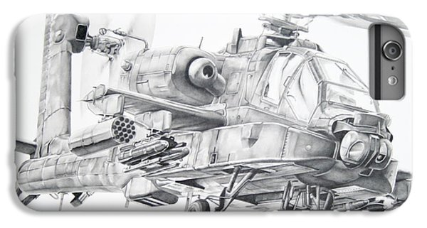 Helicopter iPhone 6s Plus Case - Apache by James Baldwin Aviation Art