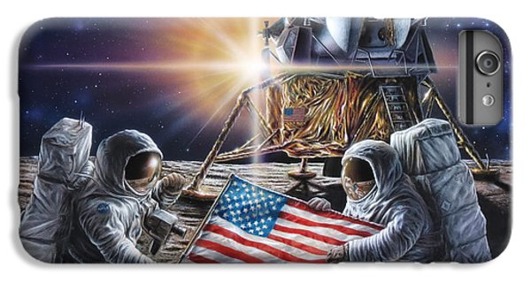 Science Fiction iPhone 6s Plus Case - Apollo 11 by Don Dixon
