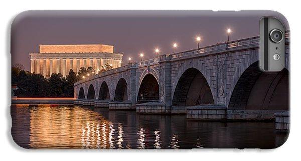 Lincoln Memorial iPhone 6s Plus Case - Arlington Memorial Bridge by Eduard Moldoveanu