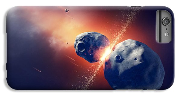 Explosion iPhone 6s Plus Case - Asteroids Collide And Explode  In Space by Johan Swanepoel