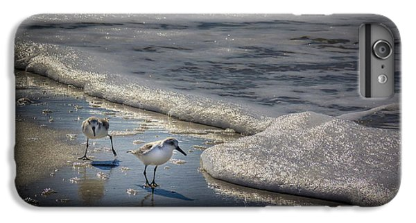 Sandpiper iPhone 6s Plus Case - Attack Of The Sea Foam by Marvin Spates