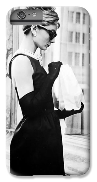 Audrey Hepburn iPhone 6s Plus Case - Audrey At Tiffanys by Georgia Fowler