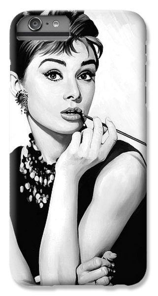 Audrey Hepburn iPhone 6s Plus Case - Audrey Hepburn Artwork by Sheraz A