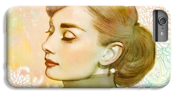 Audrey Hepburn iPhone 6s Plus Case - Audrey Hepburn by Catherine Noel
