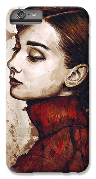 Audrey Hepburn iPhone 6s Plus Case - Audrey Hepburn by Olga Shvartsur