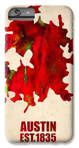 Austin Watercolor Map IPhone 6s Plus Case by Naxart Studio