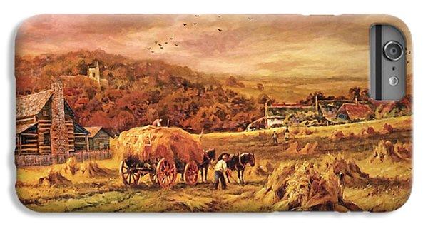 Autumn Folk Art - Haying Time IPhone 6s Plus Case