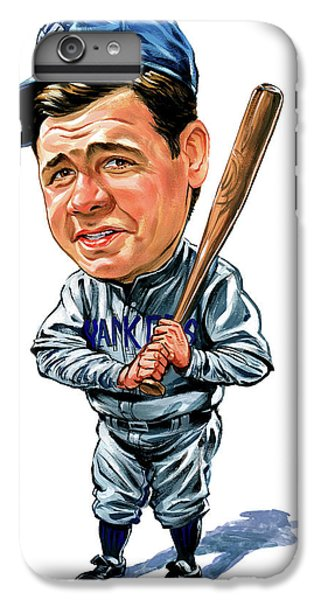 Babe Ruth iPhone 6s Plus Case - Babe Ruth by Art
