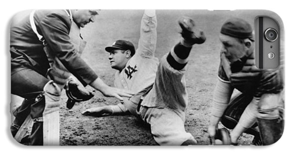 Babe Ruth iPhone 6s Plus Case - Babe Ruth Slides Home by Underwood Archives