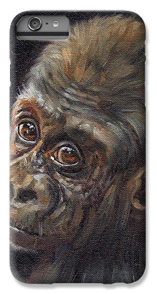 Gorilla iPhone 6s Plus Case - Baby Gorilla by David Stribbling