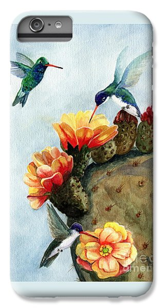 Hummingbird iPhone 6s Plus Case - Baby Makes Three by Marilyn Smith