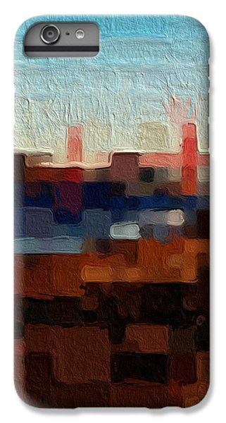 Abstract iPhone 6s Plus Case - Baker Beach by Linda Woods