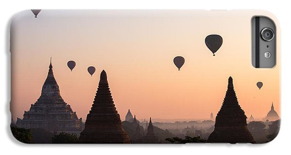 Landscape iPhone 6s Plus Case - Ballons Over The Temples Of Bagan At Sunrise - Myanmar by Matteo Colombo
