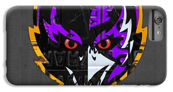 Baltimore Ravens Football Team Retro Logo Maryland License Plate Art IPhone 6s Plus Case