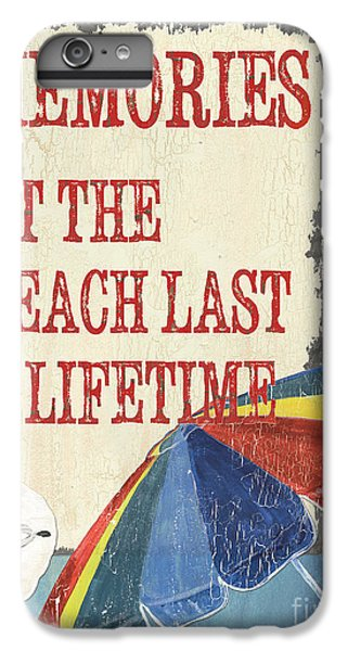 Umbrella iPhone 6s Plus Case - Beach Time 3 by Debbie DeWitt