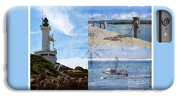 Beach Triptych 2 IPhone 6s Plus Case by Linda Lees