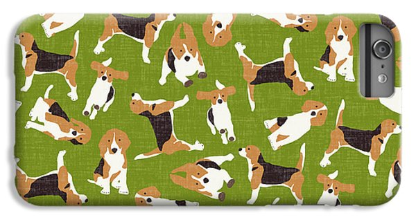 Beagle Scatter Green IPhone 6s Plus Case by Sharon Turner