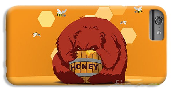 Fairy iPhone 6s Plus Case - Bear Eats Honey From Barrel Against by Funhare