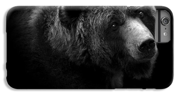 White iPhone 6s Plus Case - Portrait Of Bear In Black And White by Lukas Holas