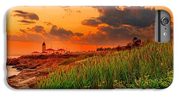 Ocean Sunset iPhone 6s Plus Case - Beavertail Spectacular- Beavertail State Park Rhode Island by Lourry Legarde