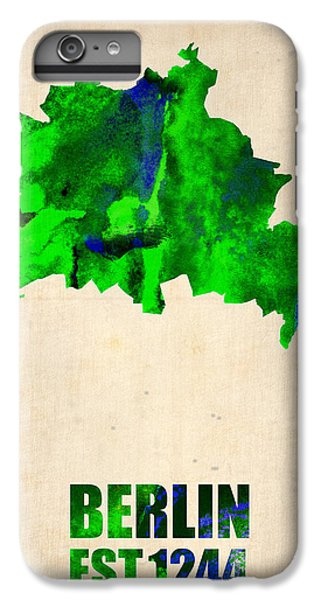 Berlin Watercolor Map IPhone 6s Plus Case by Naxart Studio