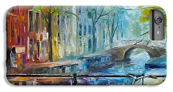 Town iPhone 6s Plus Case - Bicycle In Amsterdam by Leonid Afremov