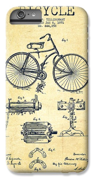 Bicycle iPhone 6s Plus Case - Bicycle Patent Drawing From 1891 - Vintage by Aged Pixel