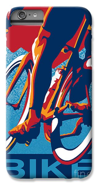 Bicycle iPhone 6s Plus Case - Bike Hard by Sassan Filsoof