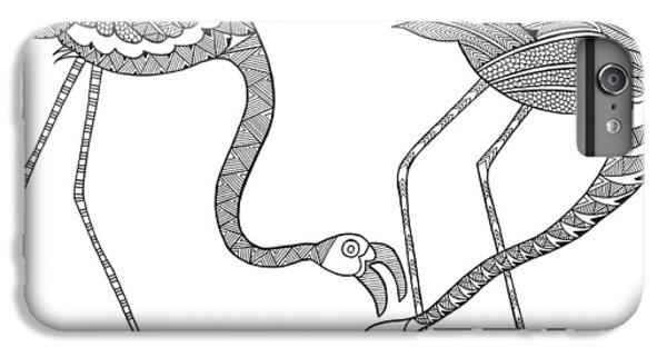 Bird Flamingos 2 IPhone 6s Plus Case by Neeti Goswami