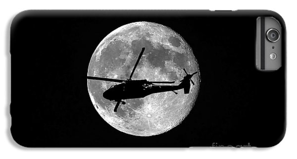 Helicopter iPhone 6s Plus Case - Black Hawk Moon by Al Powell Photography USA