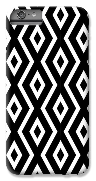 Beach iPhone 6s Plus Case - Black And White Pattern by Christina Rollo