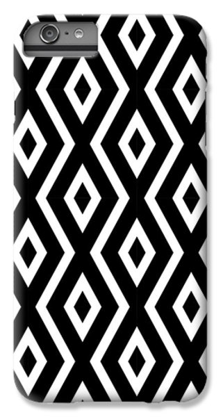 Black And White Pattern IPhone 6s Plus Case by Christina Rollo