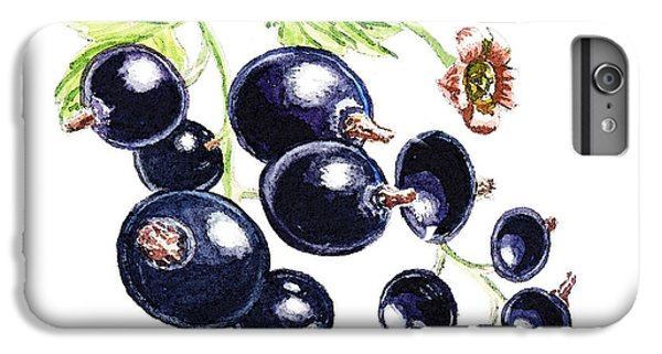 IPhone 6s Plus Case featuring the painting Blackcurrant Berries  by Irina Sztukowski