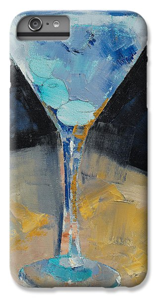 Blue Art Martini IPhone 6s Plus Case by Michael Creese