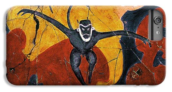 Bogdanoff iPhone 6s Plus Case - Blue Monkeys No. 8 - Study No. 3 by Steve Bogdanoff