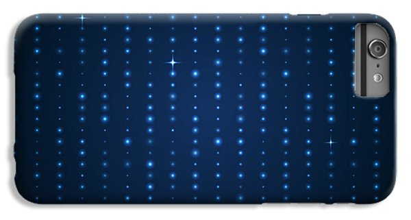Space iPhone 6s Plus Case - Blue Shining Pattern. Vector Background by Mastak A