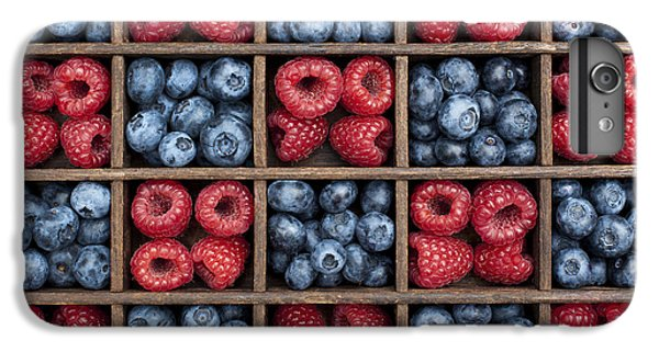 Blueberries And Raspberries  IPhone 6s Plus Case by Tim Gainey