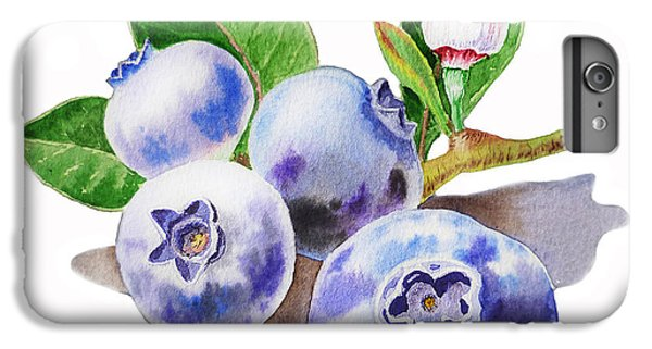 Blueberry iPhone 6s Plus Case - Artz Vitamins The Blueberries by Irina Sztukowski